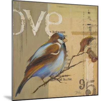 Blue Love Birds II-Patricia Pinto-Mounted Premium Giclee Print