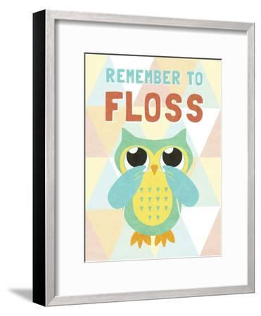 Remember to Floss--Framed Premium Giclee Print