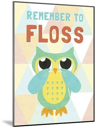 Remember to Floss--Mounted Premium Giclee Print