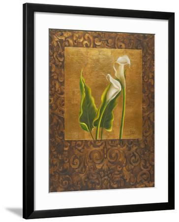 Calla Lily with Arabesque II-Patricia Pinto-Framed Art Print