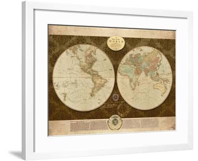 Map of World-Elizabeth Medley-Framed Premium Giclee Print
