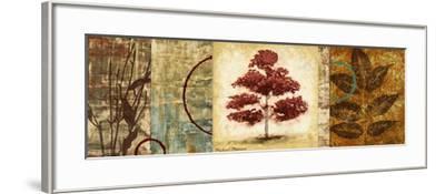 Red Tree Panel II-Michael Marcon-Framed Premium Giclee Print