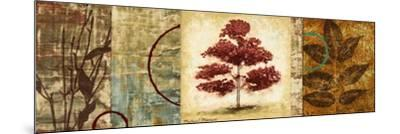 Red Tree Panel II-Michael Marcon-Mounted Premium Giclee Print