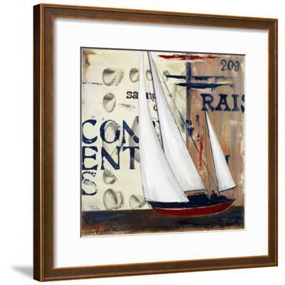 Blue Sailing Race II-Patricia Pinto-Framed Premium Giclee Print