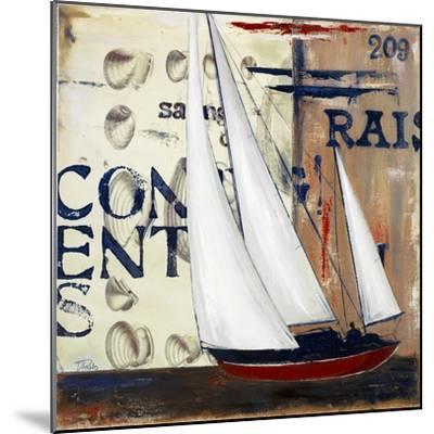 Blue Sailing Race II-Patricia Pinto-Mounted Premium Giclee Print