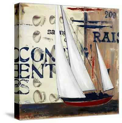 Blue Sailing Race II-Patricia Pinto-Stretched Canvas Print