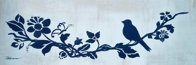 Blue Floral and Bird I-Tiffany Hakimipour-Framed Premium Giclee Print