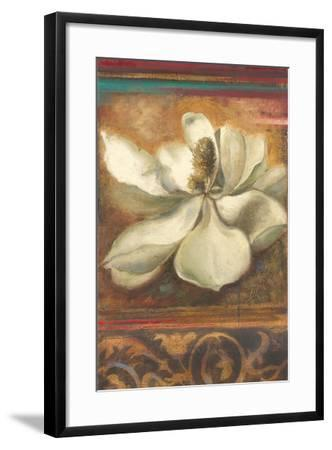 Red Eclecticism with Magnolia-Patricia Pinto-Framed Premium Giclee Print