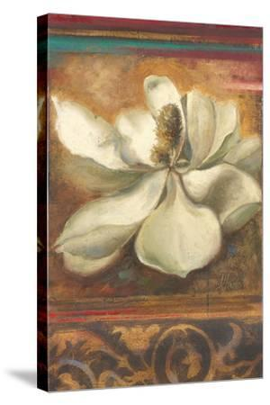 Red Eclecticism with Magnolia-Patricia Pinto-Stretched Canvas Print