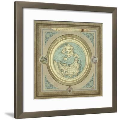 North and South Maps I-Elizabeth Medley-Framed Premium Giclee Print