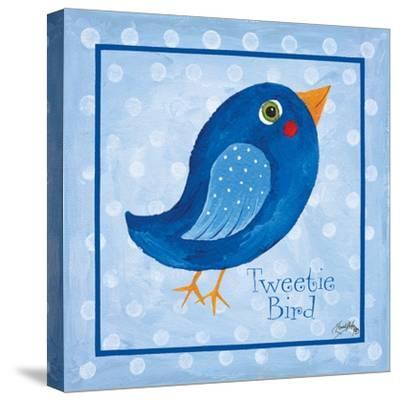 Blue Bird-Elizabeth Medley-Stretched Canvas Print