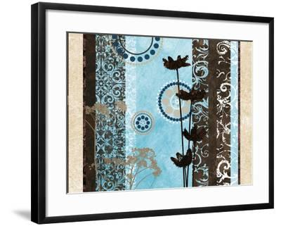 Blue Santorini Garden II-Michael Marcon-Framed Premium Giclee Print