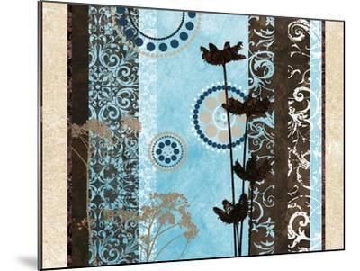 Blue Santorini Garden II-Michael Marcon-Mounted Premium Giclee Print