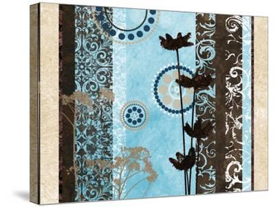 Blue Santorini Garden II-Michael Marcon-Stretched Canvas Print
