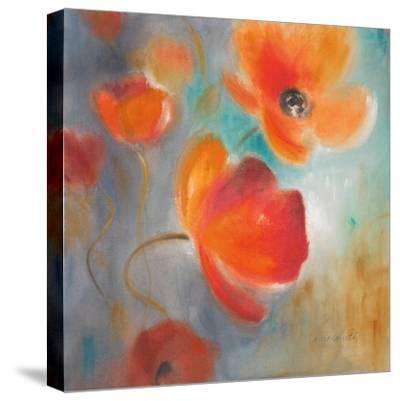 Scarlet Poppies in Bloom I-Lanie Loreth-Stretched Canvas Print