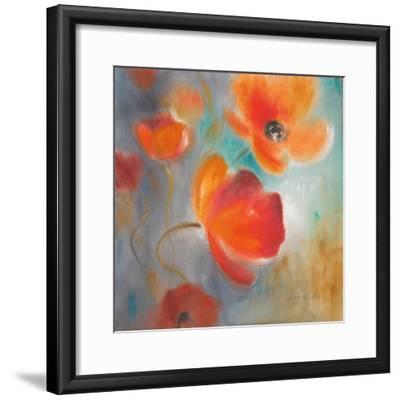 Scarlet Poppies in Bloom I-Lanie Loreth-Framed Premium Giclee Print