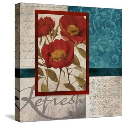Red Botanicals I-Elizabeth Medley-Stretched Canvas Print
