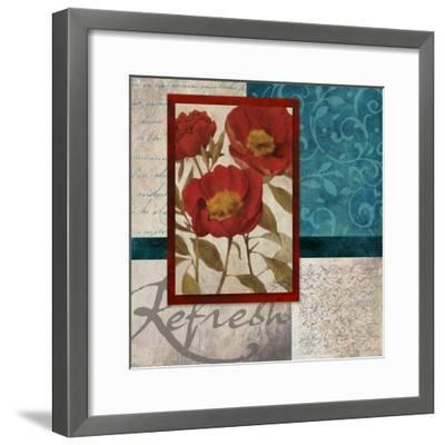 Red Botanicals I-Elizabeth Medley-Framed Art Print