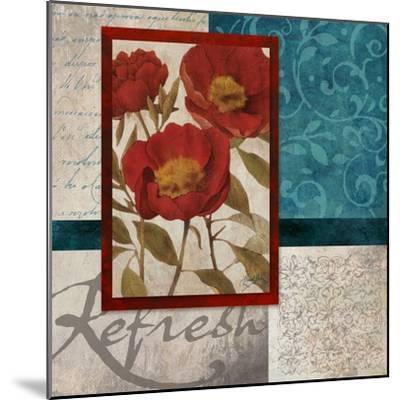 Red Botanicals I-Elizabeth Medley-Mounted Art Print