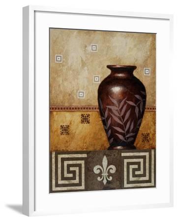 Mahogany Urn I-Michael Marcon-Framed Art Print