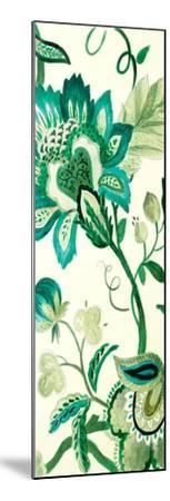 Green Capri Floral II-Lanie Loreth-Mounted Premium Giclee Print