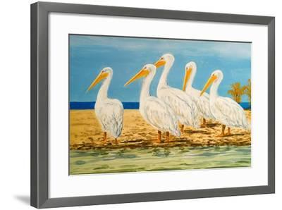 Coastal Flock I-Linda Baliko-Framed Art Print