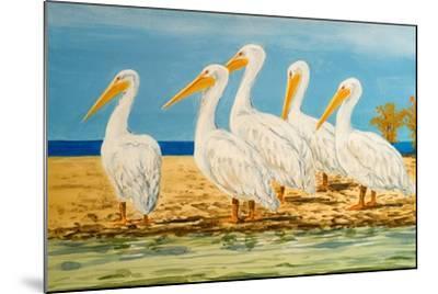 Coastal Flock I-Linda Baliko-Mounted Art Print
