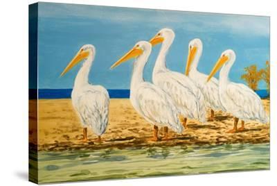 Coastal Flock I-Linda Baliko-Stretched Canvas Print