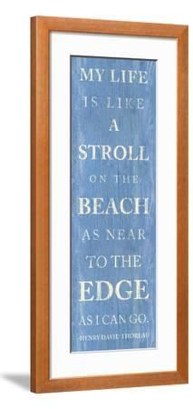 Stroll on the Beach--Framed Premium Giclee Print