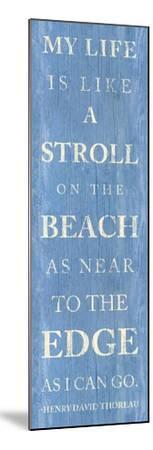 Stroll on the Beach--Mounted Premium Giclee Print