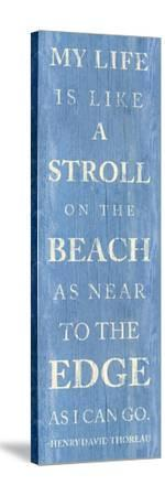 Stroll on the Beach--Stretched Canvas Print