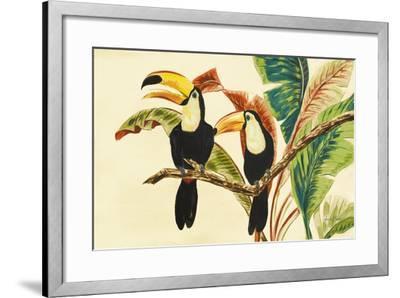 Tropical Toucans I-Linda Baliko-Framed Premium Giclee Print