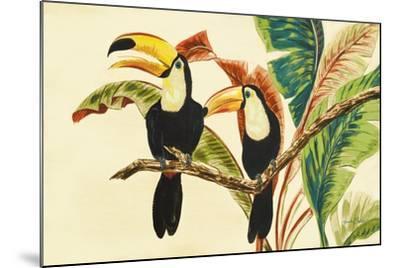 Tropical Toucans I-Linda Baliko-Mounted Premium Giclee Print
