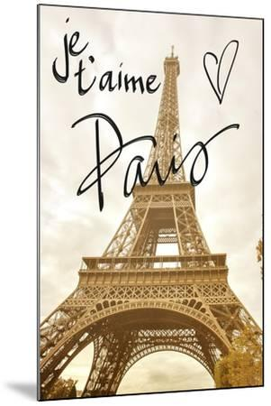 Je T'aime Paris-Emily Navas-Mounted Premium Giclee Print