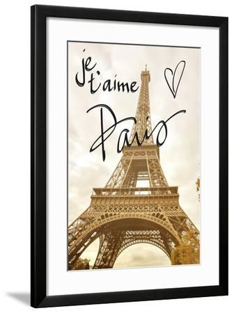 Je T'aime Paris-Emily Navas-Framed Premium Giclee Print