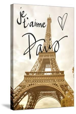 Je T'aime Paris-Emily Navas-Stretched Canvas Print