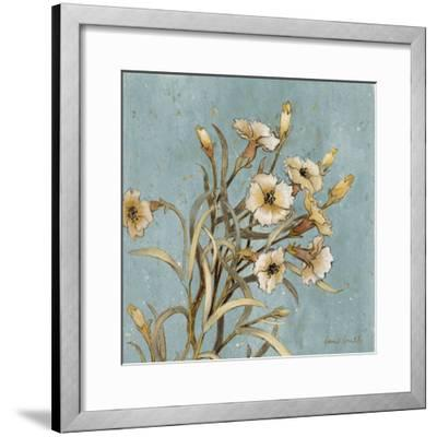 Wild Flowers on Blue I-Lanie Loreth-Framed Art Print