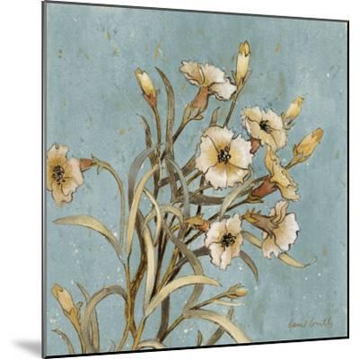 Wild Flowers on Blue I-Lanie Loreth-Mounted Art Print