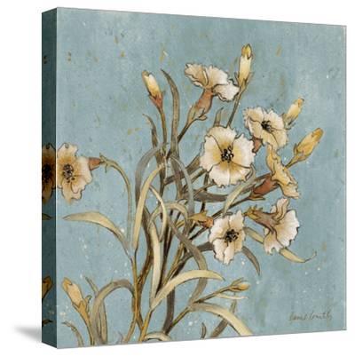 Wild Flowers on Blue I-Lanie Loreth-Stretched Canvas Print