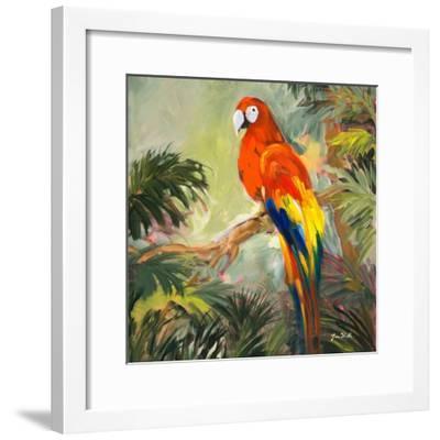 Parrots at Bay I-Jane Slivka-Framed Premium Giclee Print