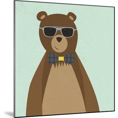Hipster Bear II--Mounted Premium Giclee Print