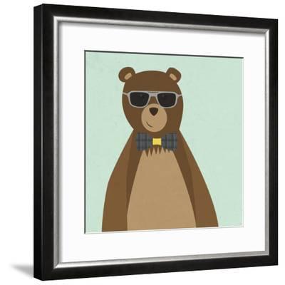 Hipster Bear II--Framed Premium Giclee Print