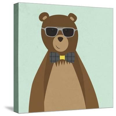 Hipster Bear II--Stretched Canvas Print