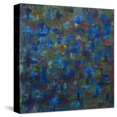 Mixed Emotions in Blue I-Everett Spruill-Stretched Canvas Print