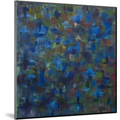 Mixed Emotions in Blue I-Everett Spruill-Mounted Art Print