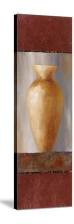 Rustic Gold Flower Vase I-Lanie Loreth-Stretched Canvas Print