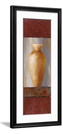 Rustic Gold Flower Vase I-Lanie Loreth-Framed Art Print