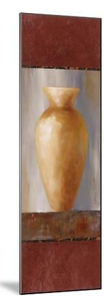 Rustic Gold Flower Vase I-Lanie Loreth-Mounted Art Print