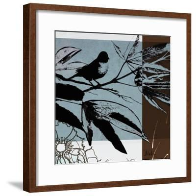 Blue and White Silhouette I-Patricia Pinto-Framed Premium Giclee Print