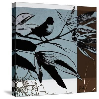 Blue and White Silhouette I-Patricia Pinto-Stretched Canvas Print